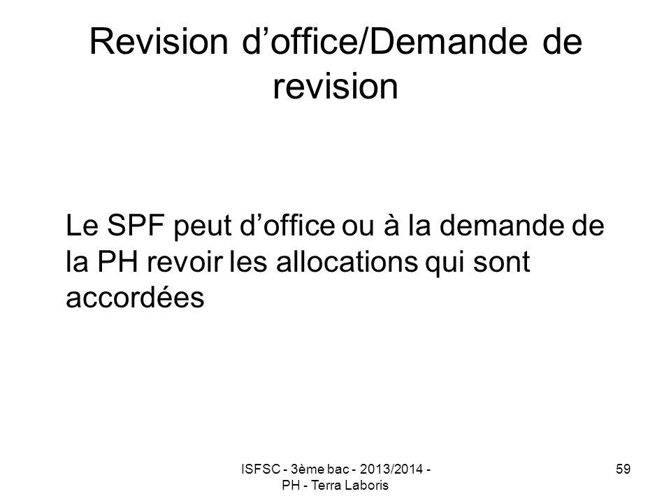 Revision d'office/Demande de revision