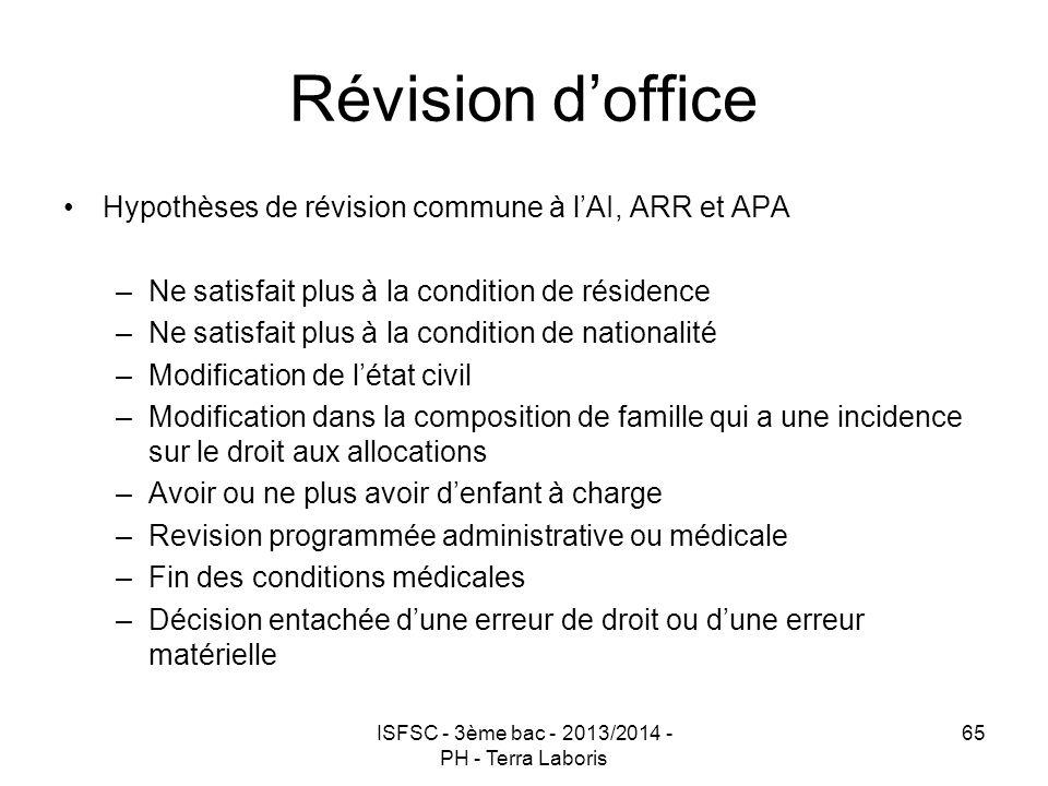 ISFSC - 3ème bac - 2013/2014 - PH - Terra Laboris