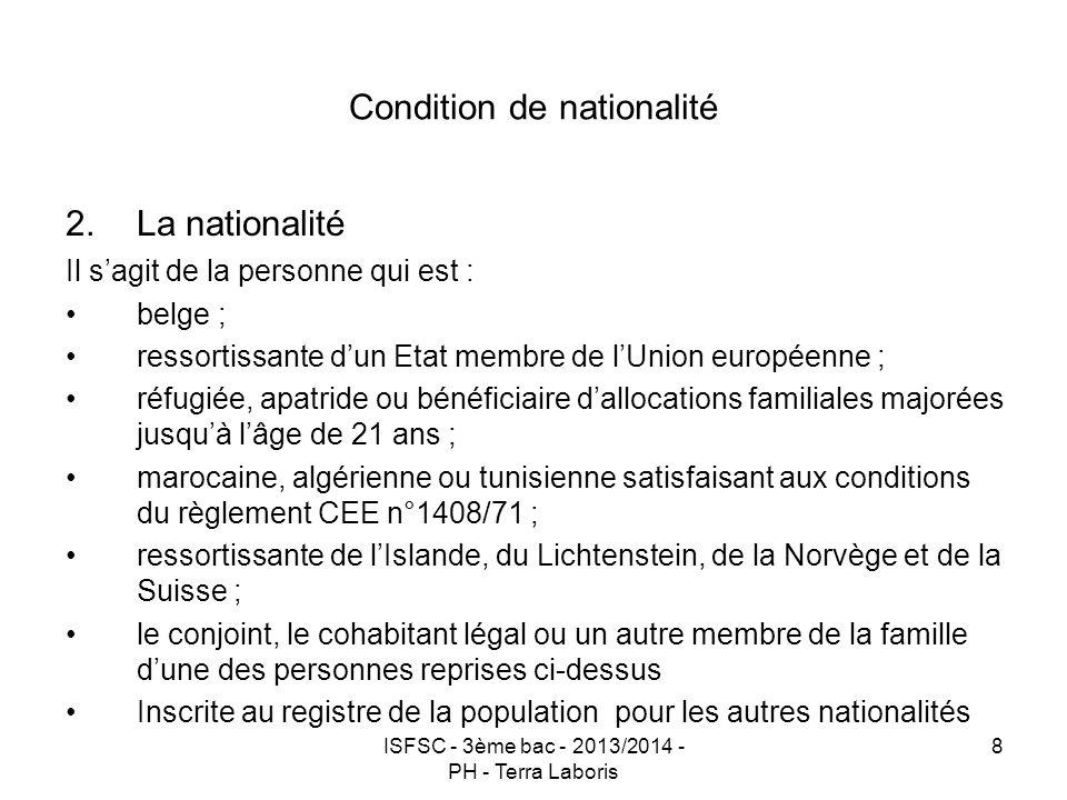 Condition de nationalité
