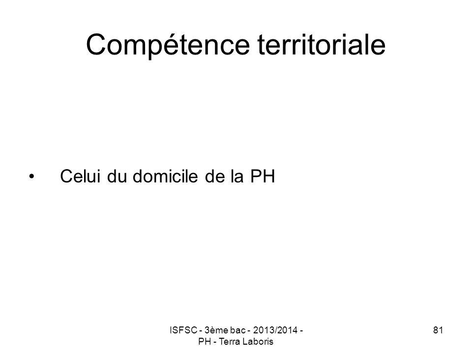 Compétence territoriale