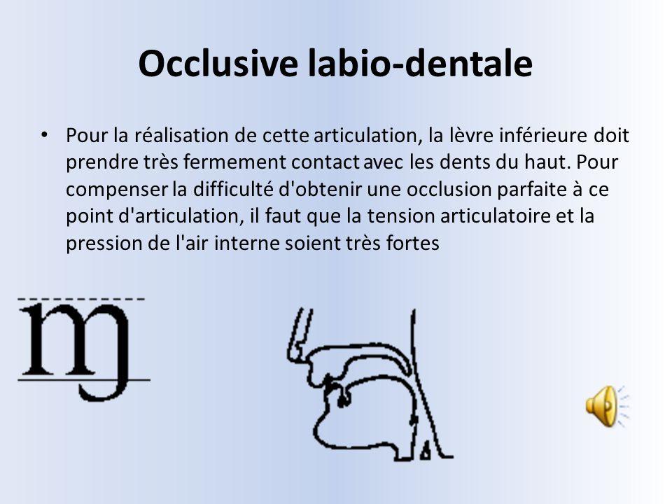 Occlusive labio-dentale