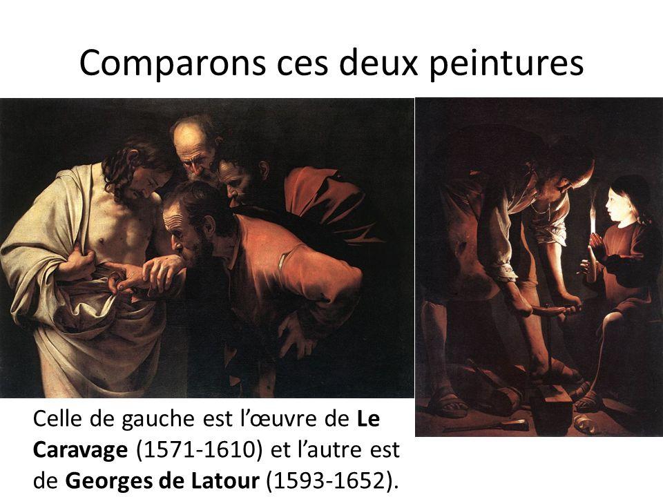 Comparons ces deux peintures