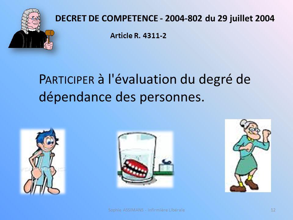 DECRET DE COMPETENCE - 2004-802 du 29 juillet 2004