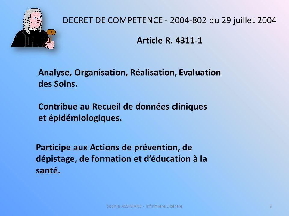 DECRET DE COMPETENCE - 2004-802 du 29 juillet 2004 Article R. 4311-1
