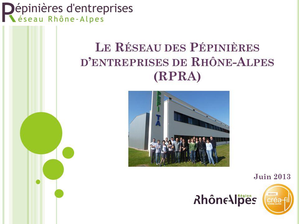 Le Réseau des Pépinières d'entreprises de Rhône-Alpes (RPRA)