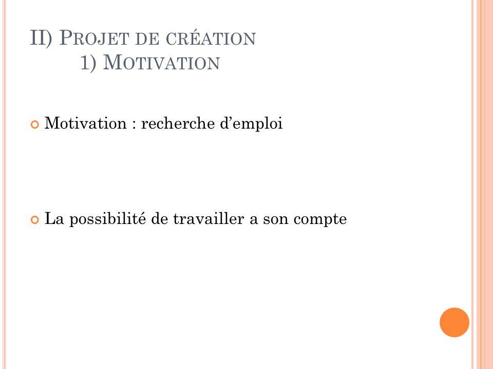 II) Projet de création 1) Motivation