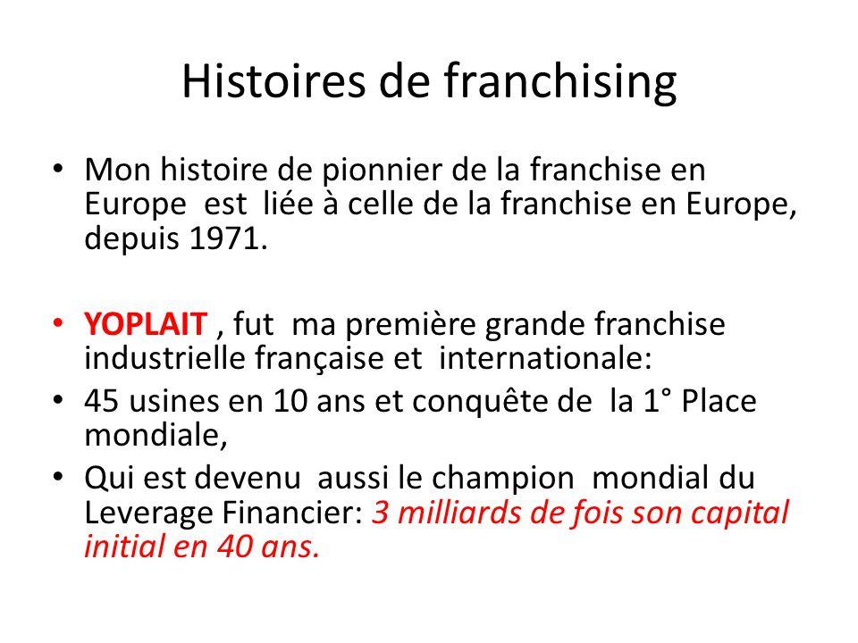 Histoires de franchising