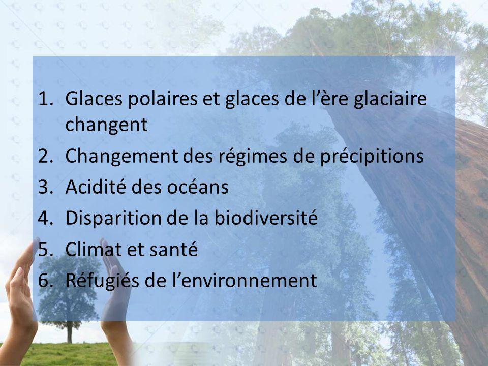 Glaces polaires et glaces de l'ère glaciaire changent