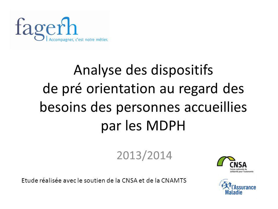 Analyse des dispositifs de pré orientation au regard des besoins des personnes accueillies par les MDPH