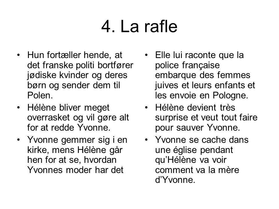 4. La rafle Hun fortæller hende, at det franske politi bortfører jødiske kvinder og deres børn og sender dem til Polen.