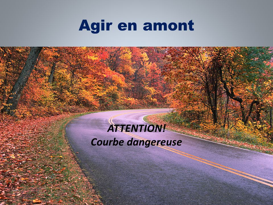 ATTENTION! Courbe dangereuse