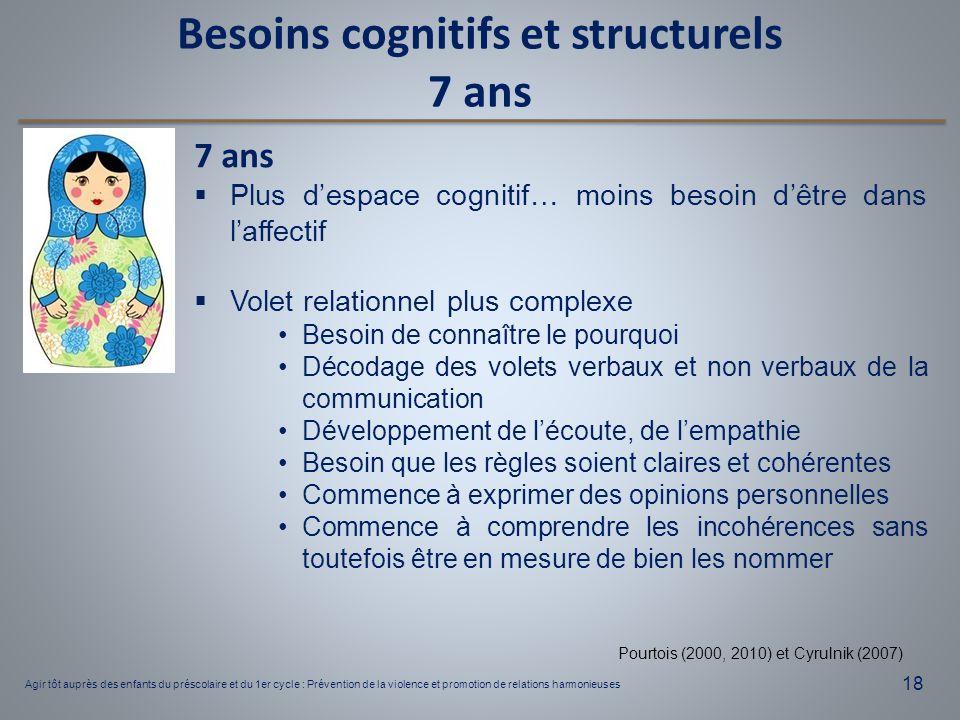 Besoins cognitifs et structurels
