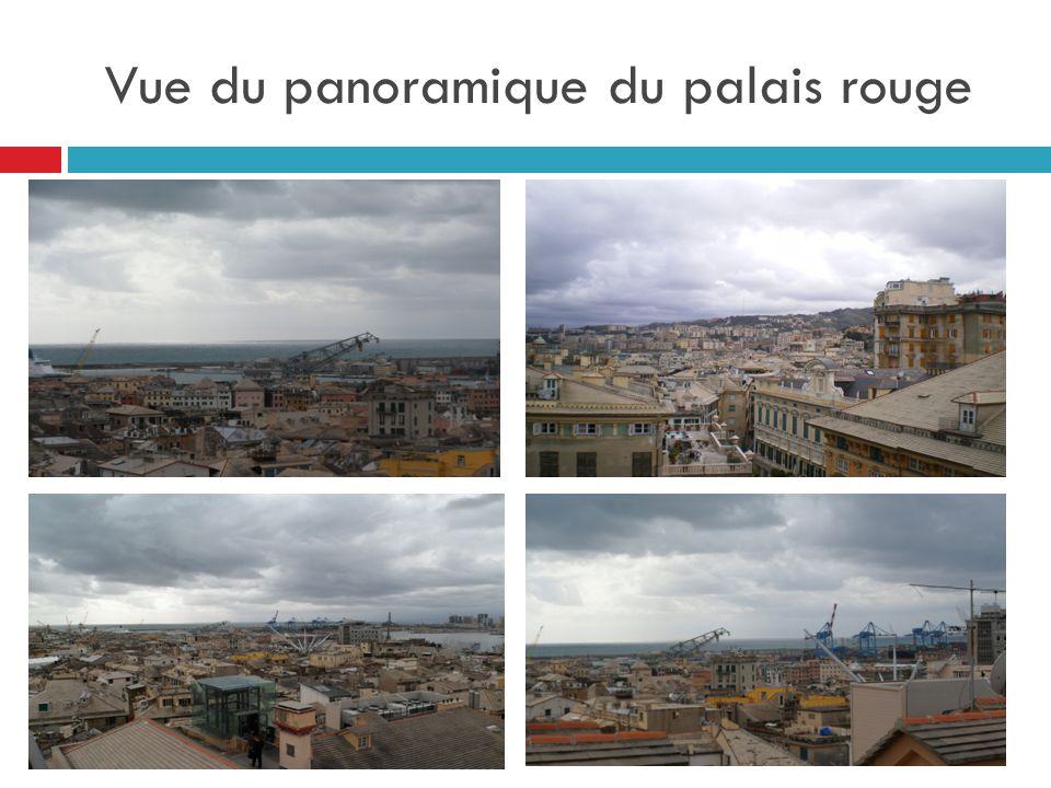 Vue du panoramique du palais rouge