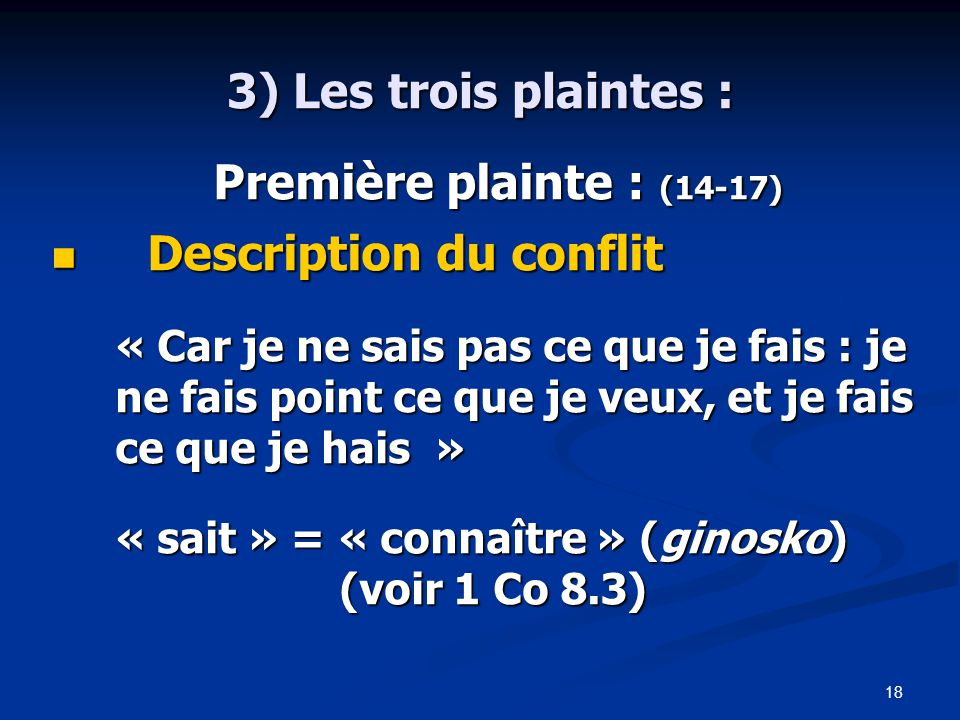 Description du conflit