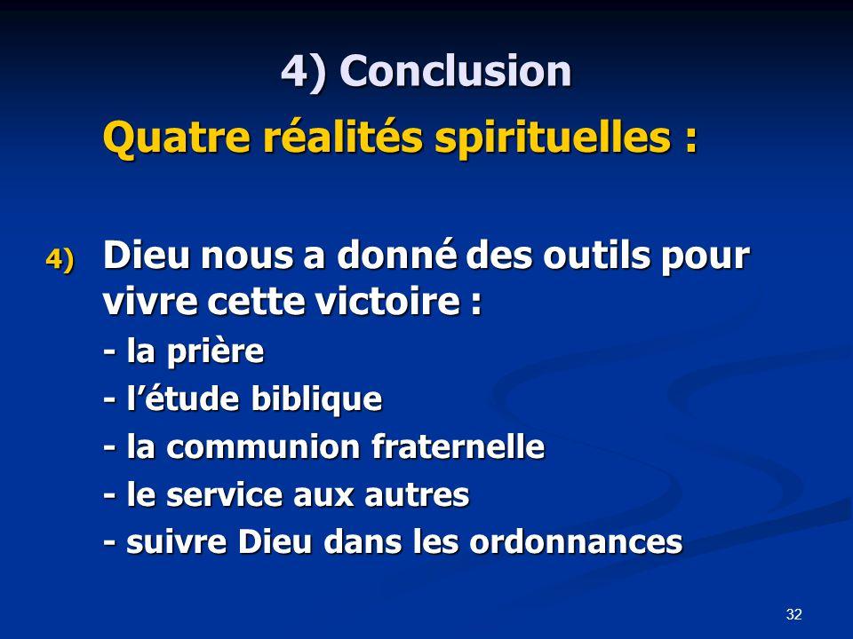 Quatre réalités spirituelles :