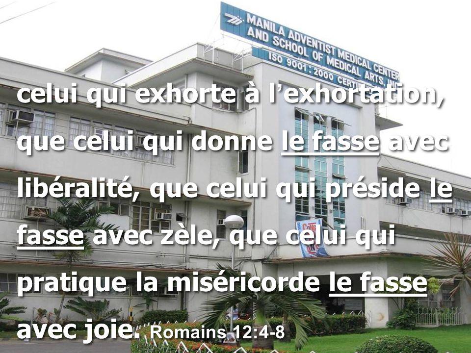 celui qui exhorte à l'exhortation,