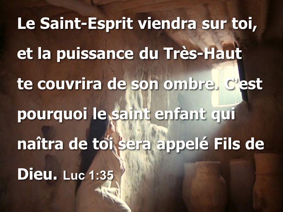 Le Saint-Esprit viendra sur toi,