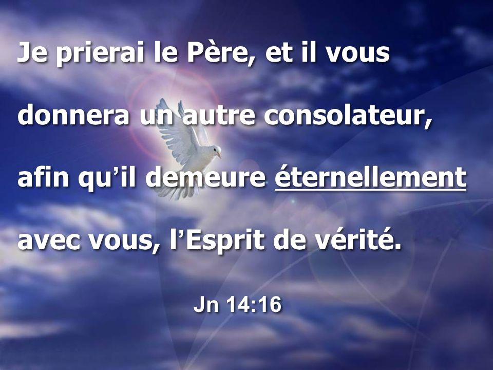 Je prierai le Père, et il vous donnera un autre consolateur,