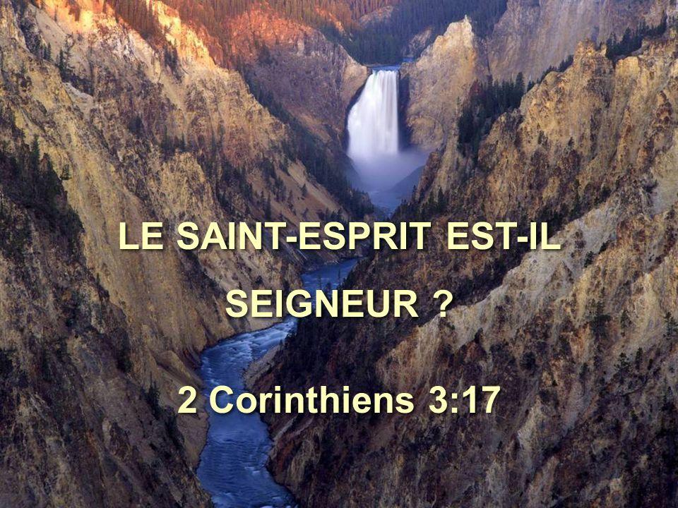 LE SAINT-ESPRIT EST-IL