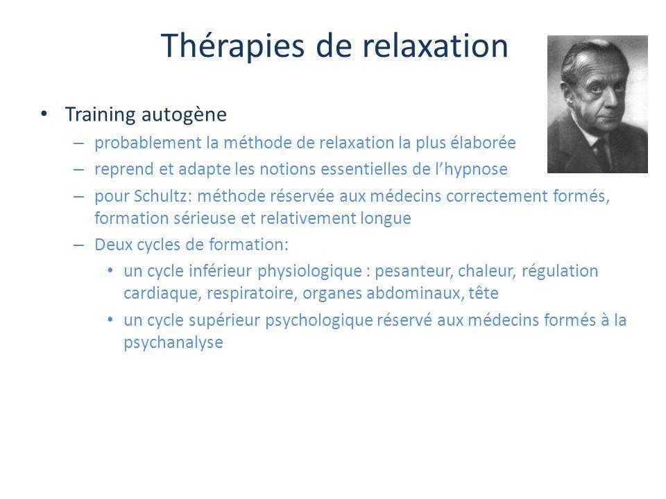 Thérapies de relaxation