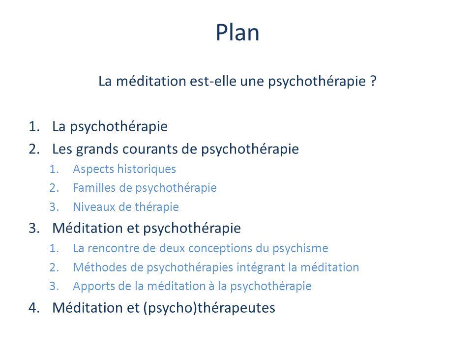 La méditation est-elle une psychothérapie