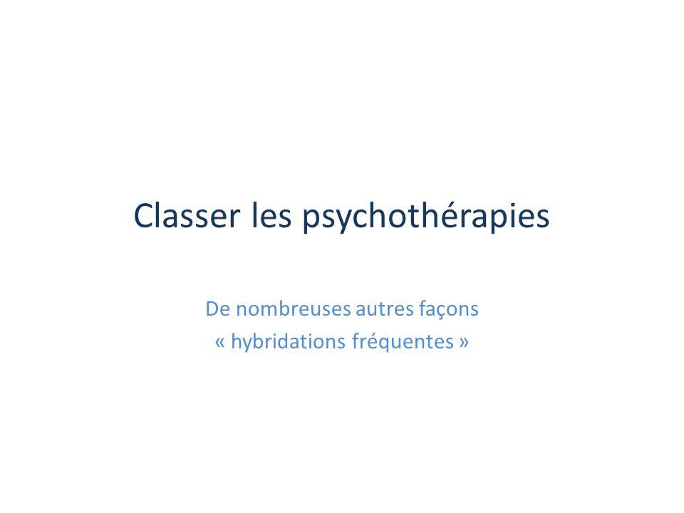 Classer les psychothérapies