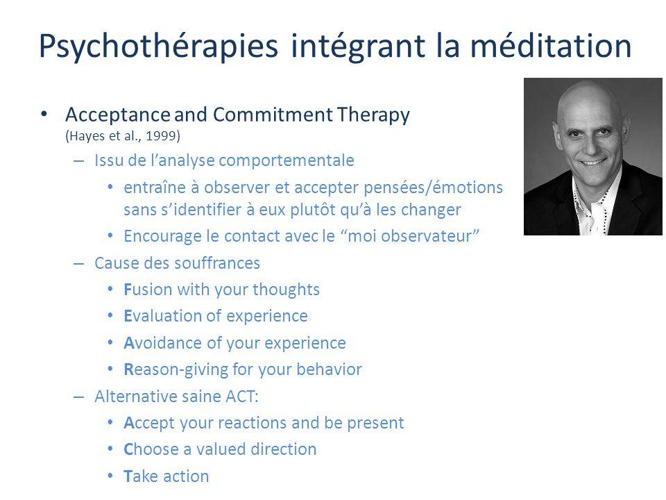 Psychothérapies intégrant la méditation