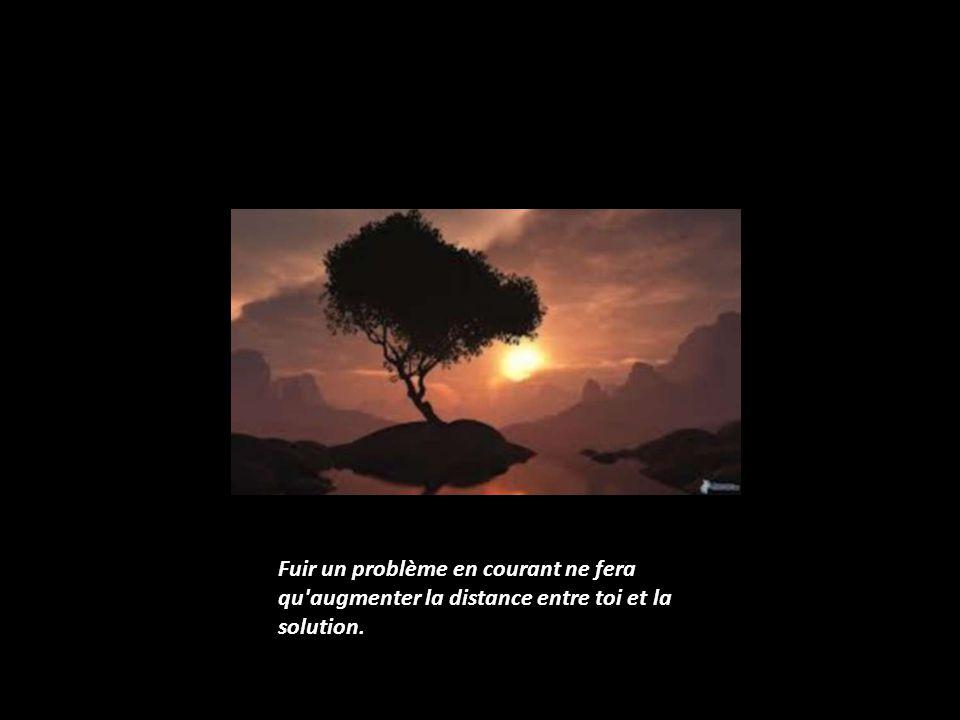 Fuir un problème en courant ne fera qu augmenter la distance entre toi et la solution.