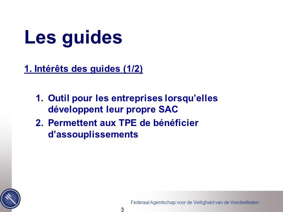Les guides 1. Intérêts des guides (1/2)