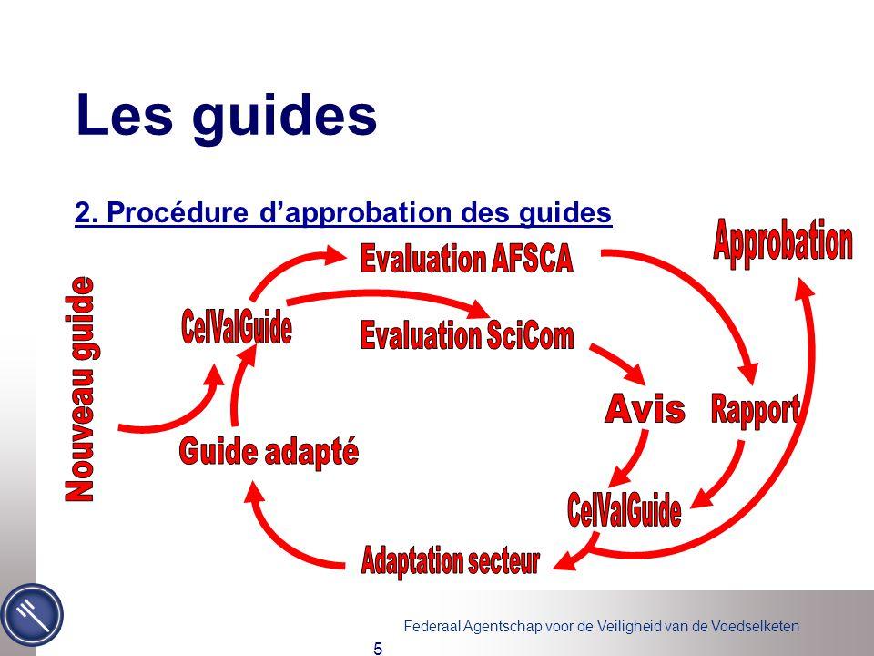 Les guides 2. Procédure d'approbation des guides Approbation