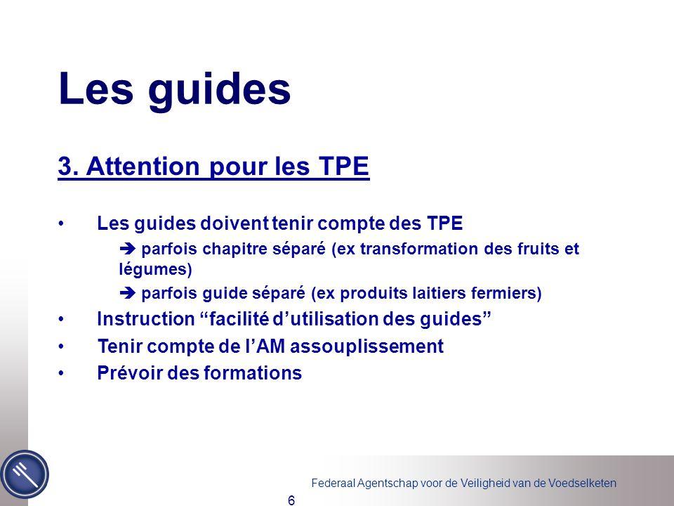 Les guides 3. Attention pour les TPE