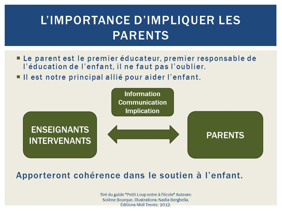 L'importance d'impliquer les parents