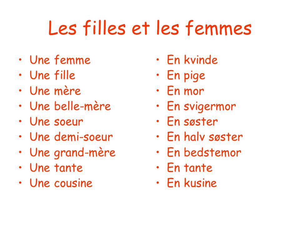 Les filles et les femmes