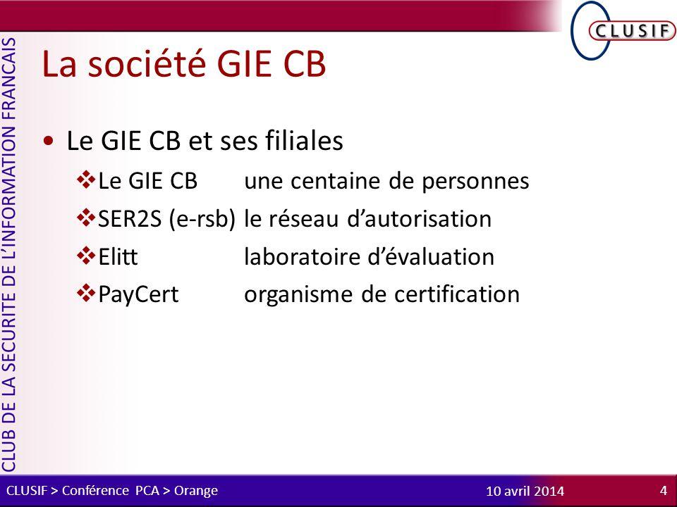 La société GIE CB Le GIE CB et ses filiales