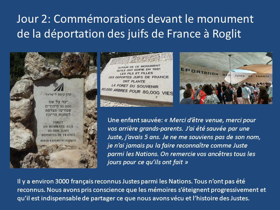 Jour 2: Commémorations devant le monument de la déportation des juifs de France à Roglit