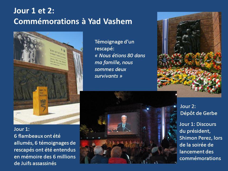 Jour 1 et 2: Commémorations à Yad Vashem