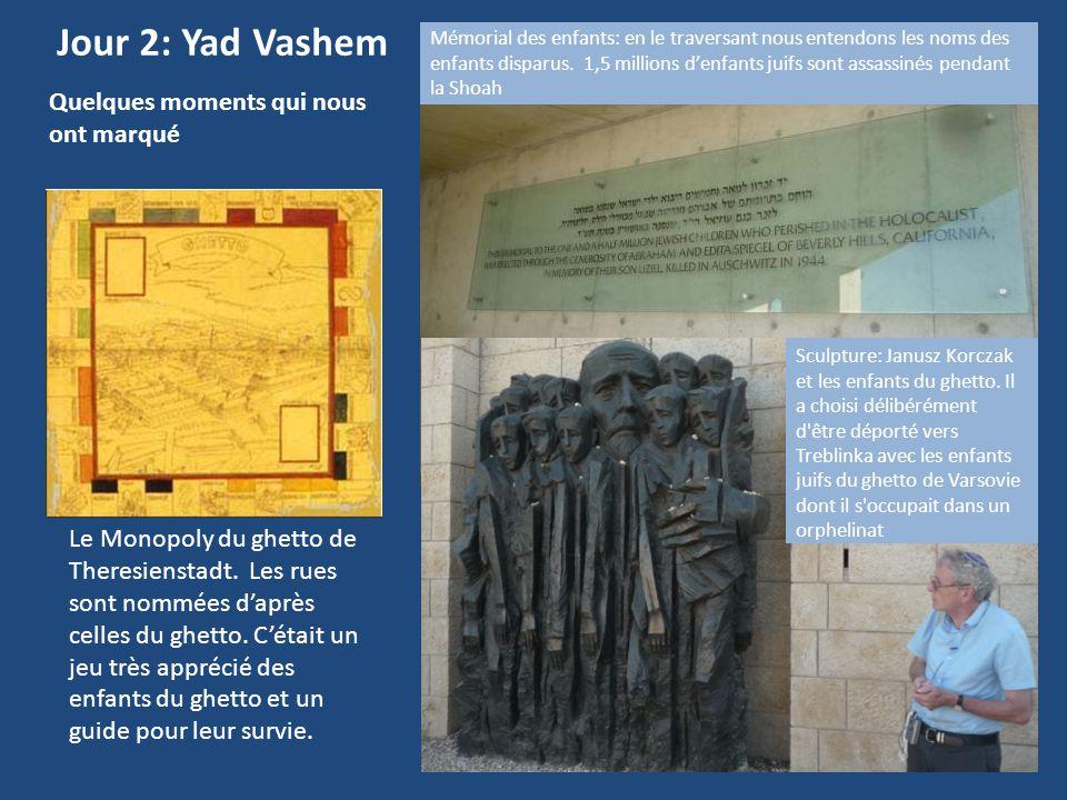 Jour 2: Yad Vashem Quelques moments qui nous ont marqué