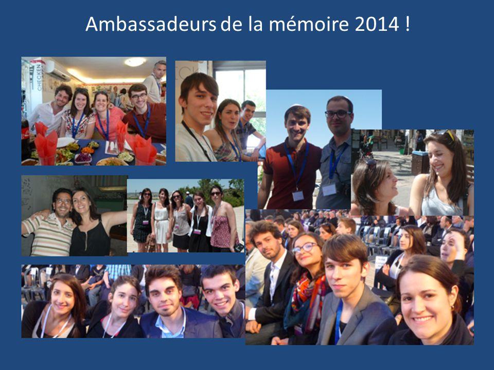 Ambassadeurs de la mémoire 2014 !