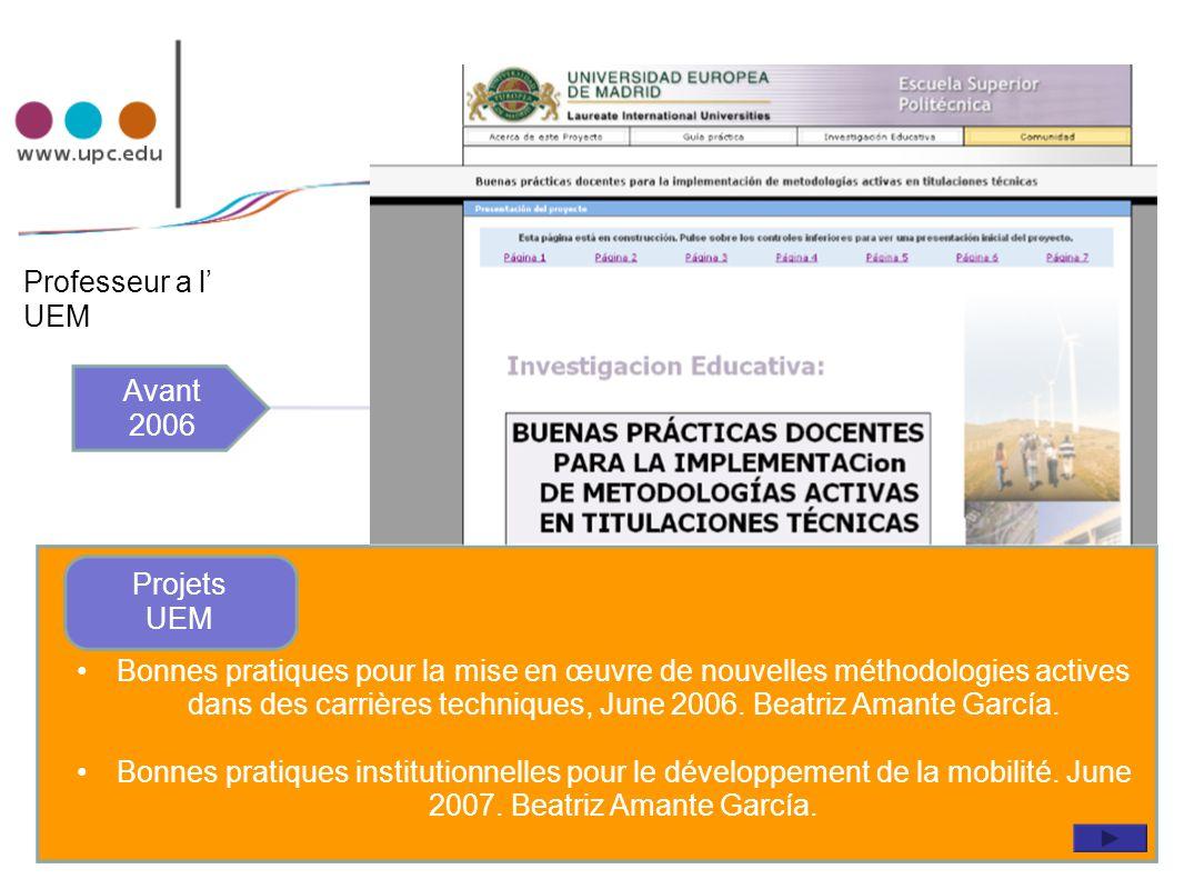 Coordinadora asignaturas proyectos: EAEI y EOI