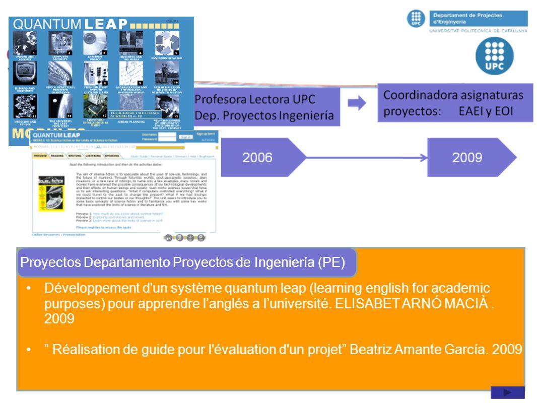 Proyectos Departamento Proyectos de Ingeniería (PE)