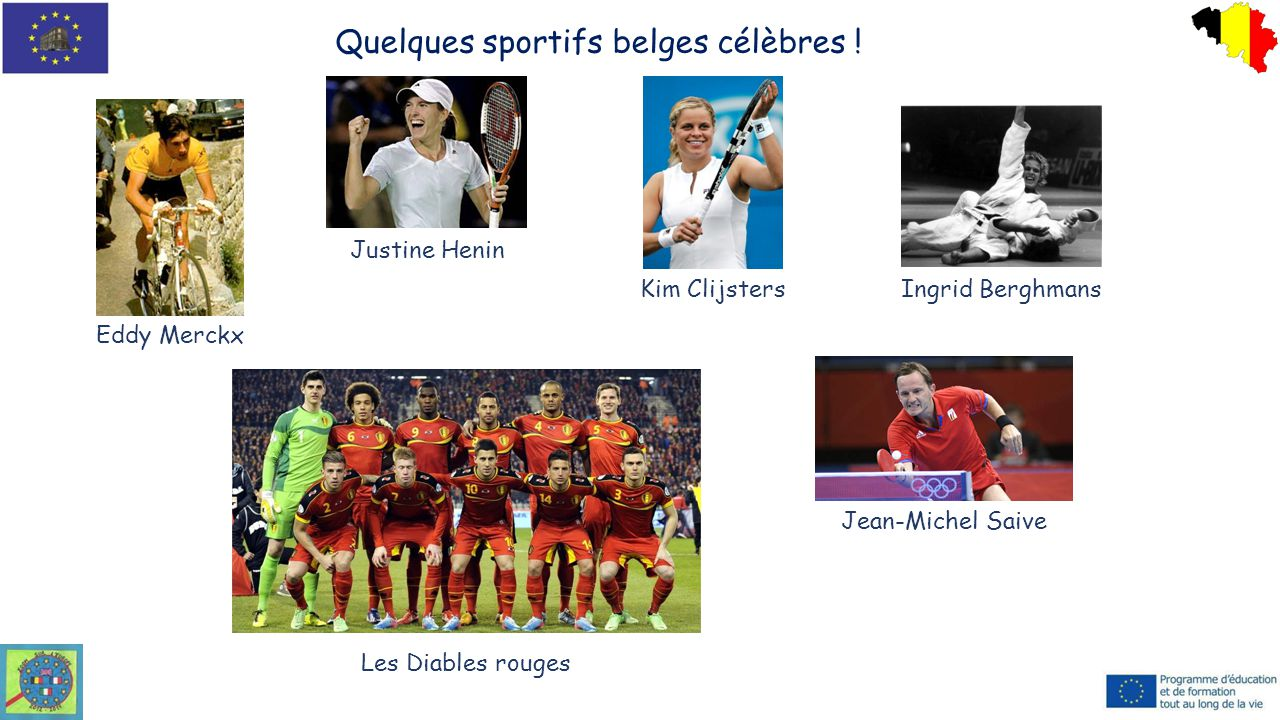 Quelques sportifs belges célèbres !