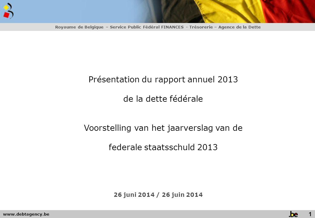 Présentation du rapport annuel 2013 de la dette fédérale