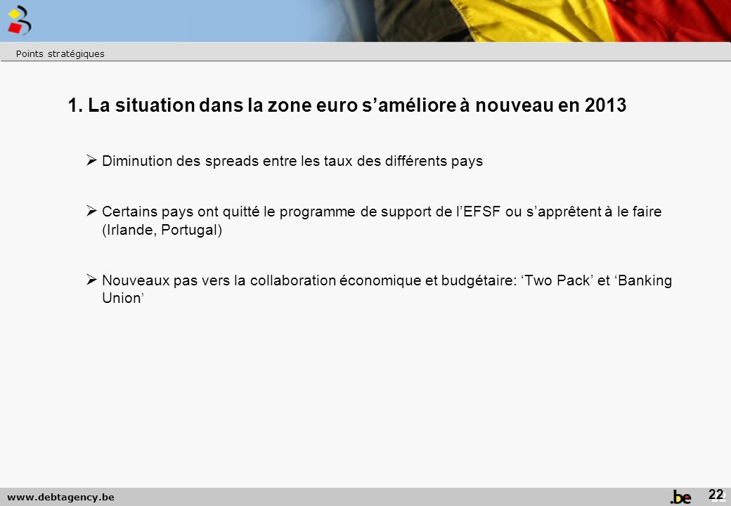1. La situation dans la zone euro s'améliore à nouveau en 2013