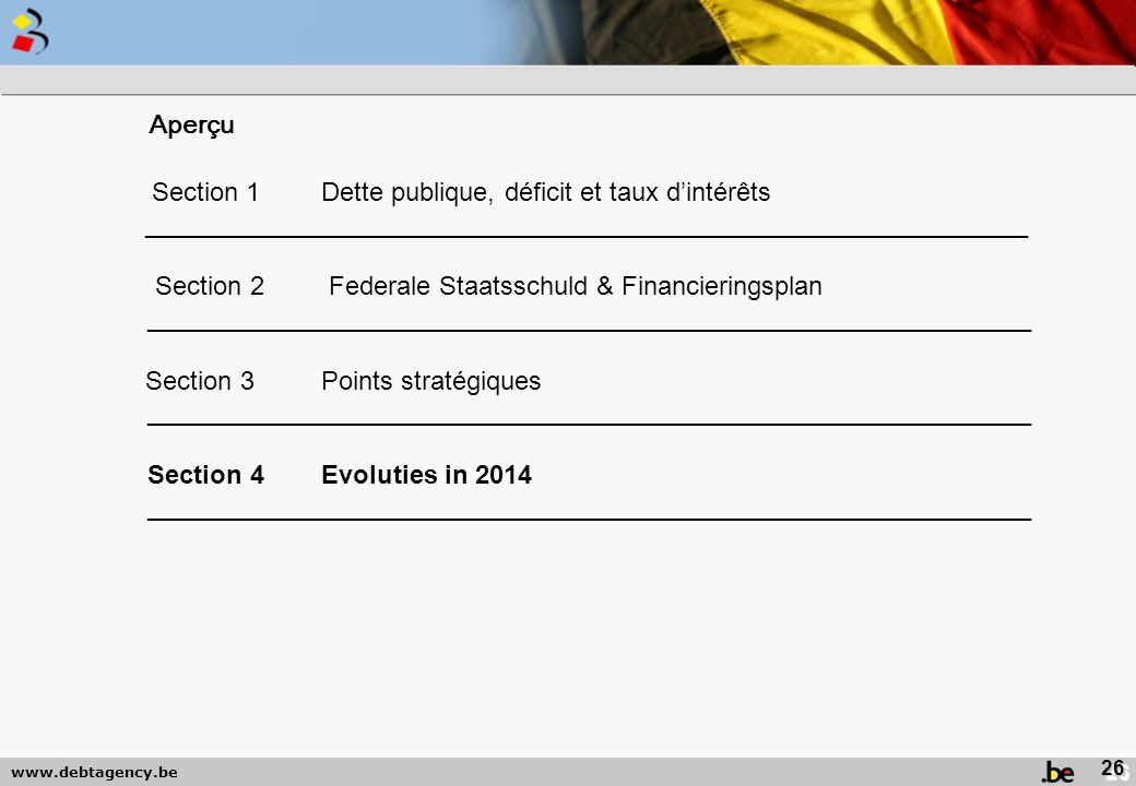 Section 2 Federale Staatsschuld & Financieringsplan