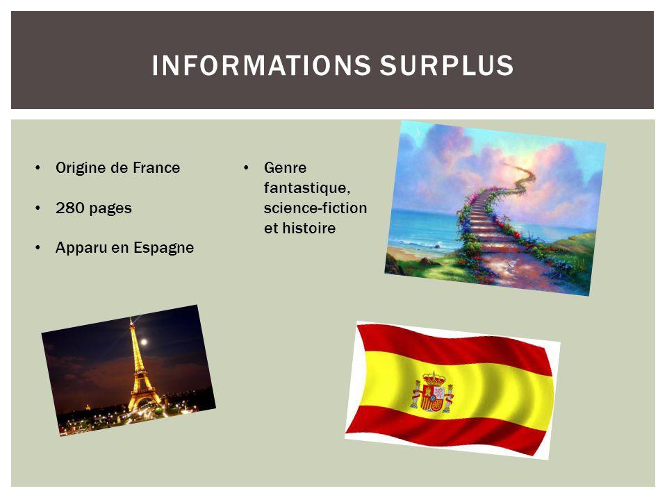 Informations surplus Origine de France