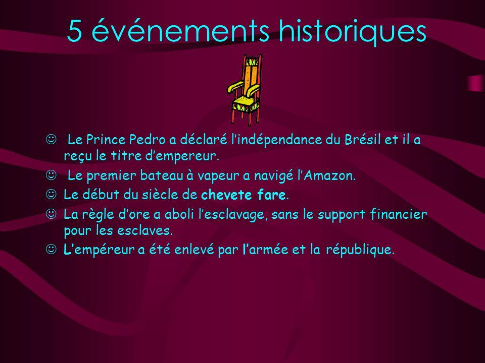 5 événements historiques