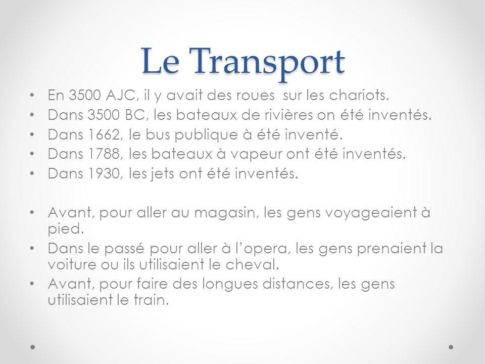 Le Transport En 3500 AJC, il y avait des roues sur les chariots.