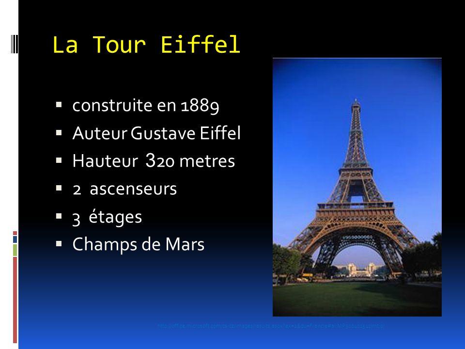 La Tour Eiffel construite en 1889 Auteur Gustave Eiffel