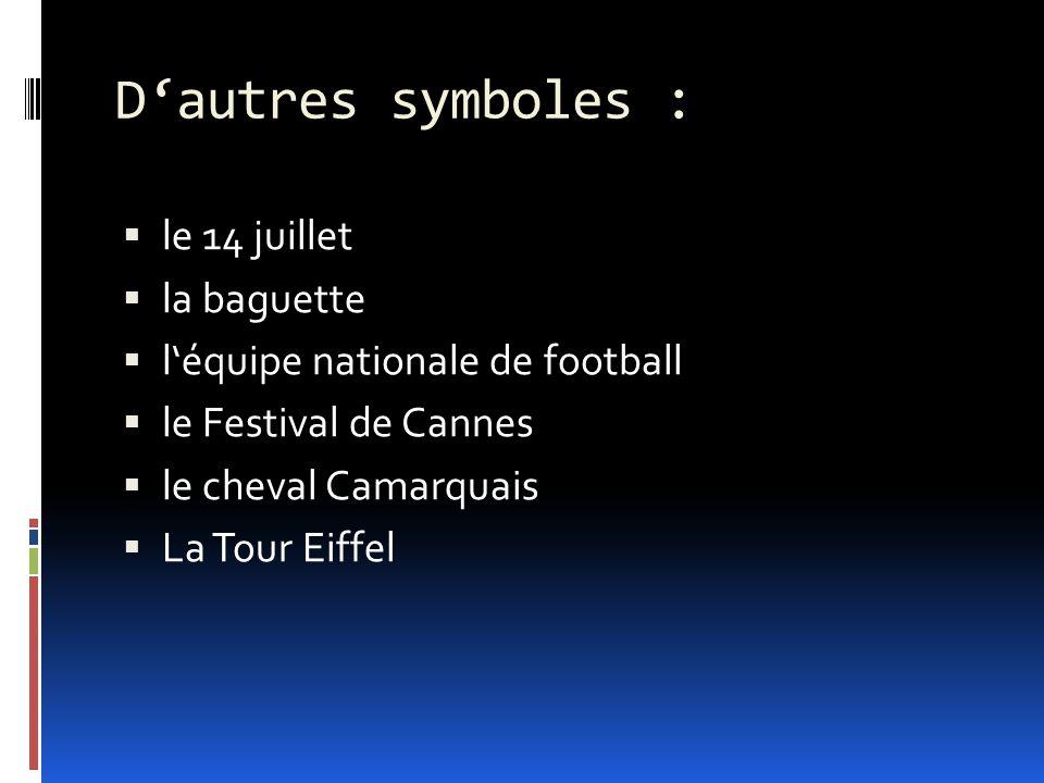 D'autres symboles : le 14 juillet la baguette