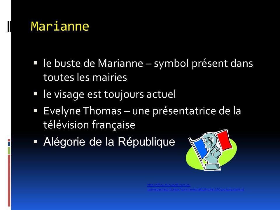 Marianne le buste de Marianne – symbol présent dans toutes les mairies